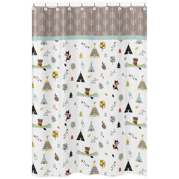 Outdoor Adventure 100% Cotton Shower Curtain by Sweet Jojo Designs